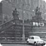 The spot at the fountain was photographed by a Czech police assistant on 16 January 1969, shortly after Jan Palach's act (Source: ABS)